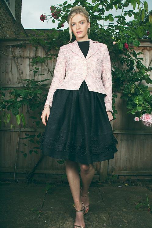 Black Lace Detail Skirt