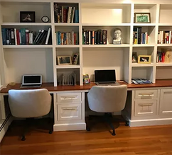 Bookcase with pannels