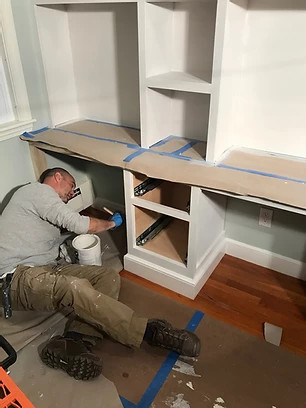 Painting the cabinets