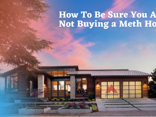 How to be sure you are not buying a meth house?