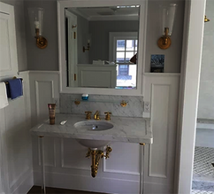 Bathroom with wall panelling
