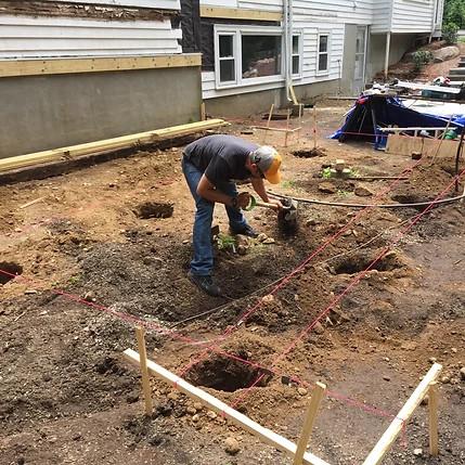Excavation work goes first