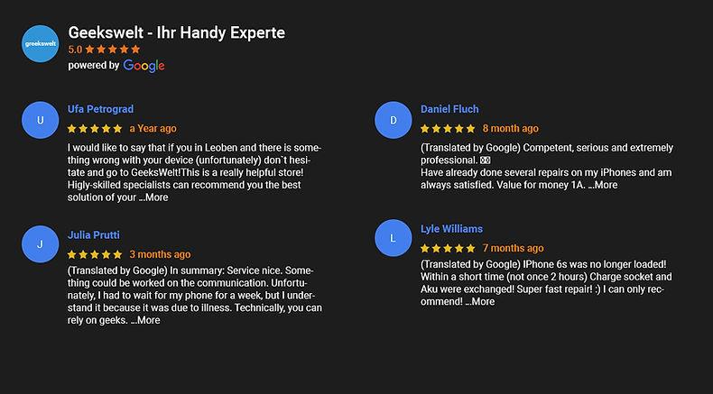 Geekwelt Google Review