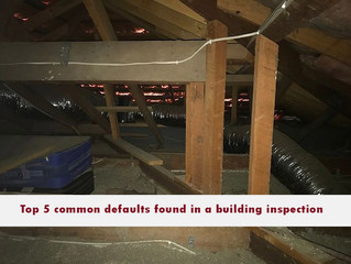 Top 5 common defaults found in a building inspection