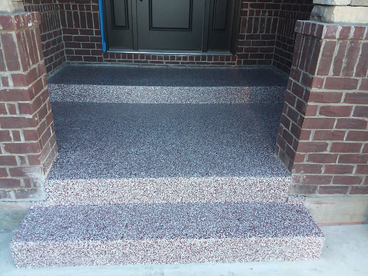 Steps and Rear Patio Before and After -