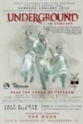 Underground play Tallahassee poster - Mo