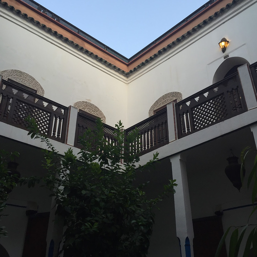 The smaller of the two riads that make up Equity Point Hostel, Marrakech.