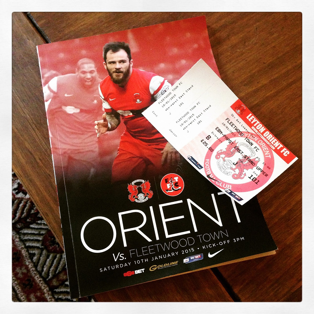 Match ticket and programme from Leyton Orient.