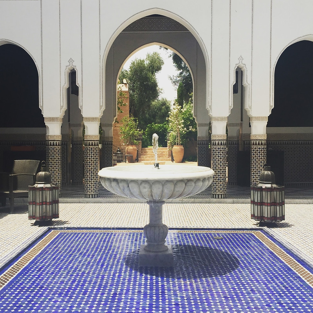 Even the secluded areas of La Mamounia's gardens are palatial.