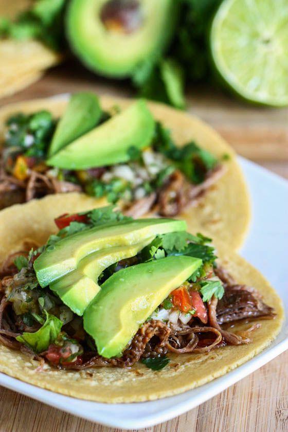 Tacos de Arrachera con aguacate