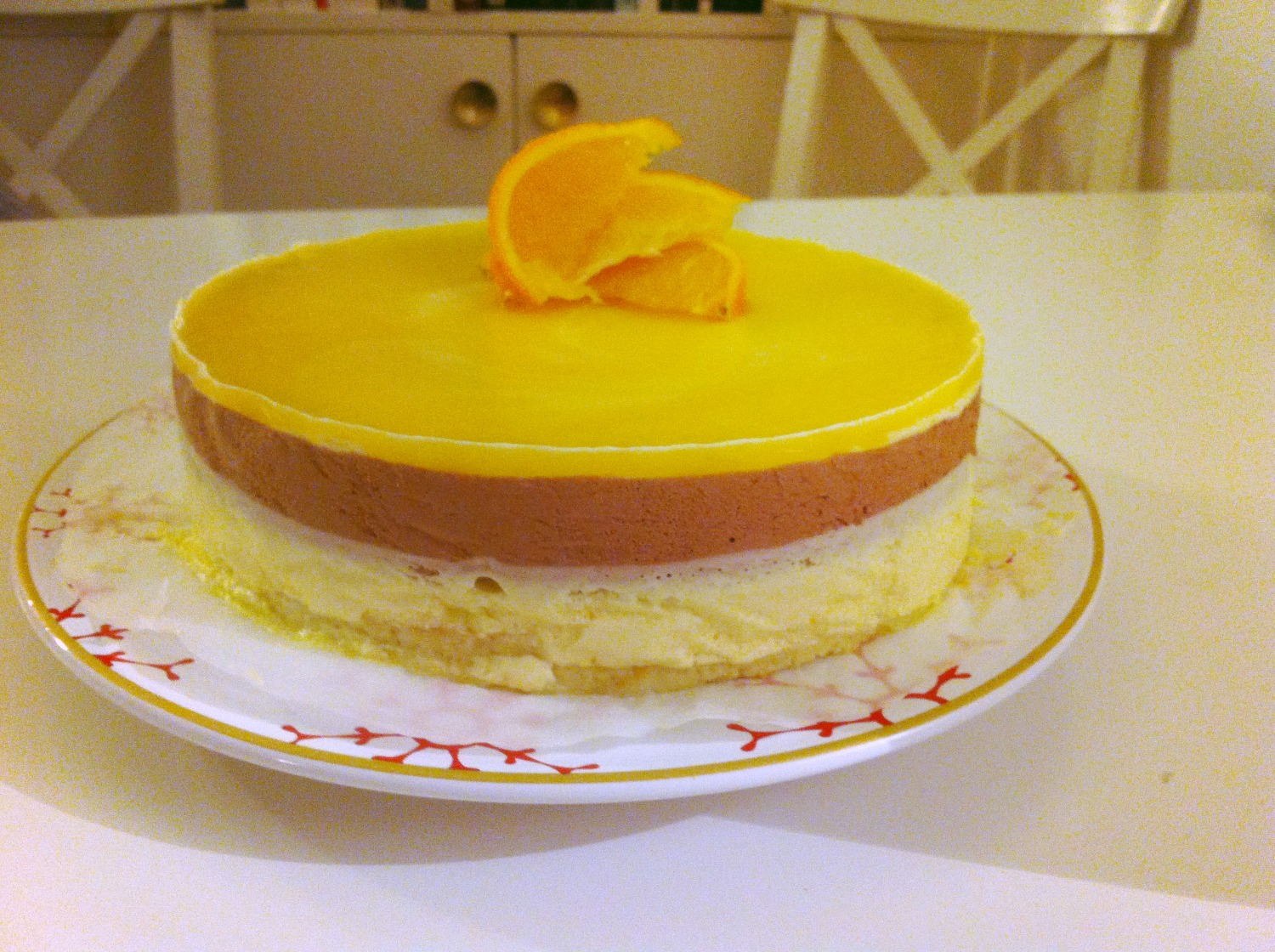 Cake with citrus of my sister