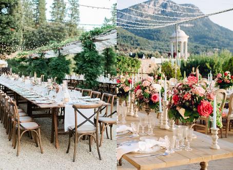 5 ambientes que nos inspiran una boda al aire libre