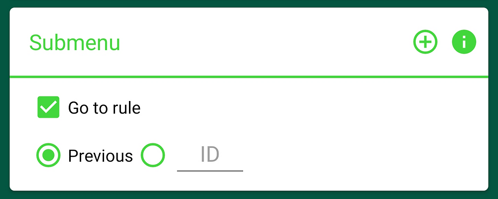 Submenu Go to rule > Previous option in AutoResponder