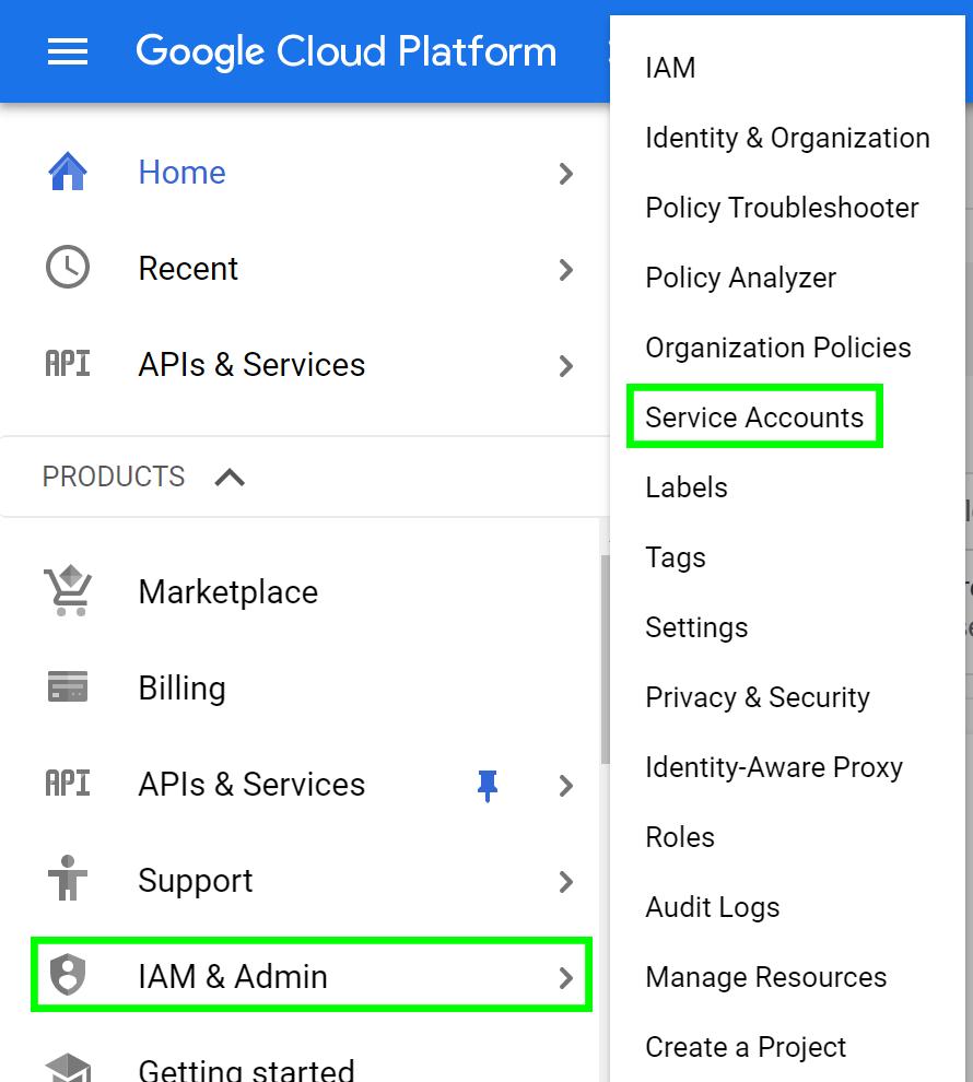 Google Cloud Platform Service Accounts