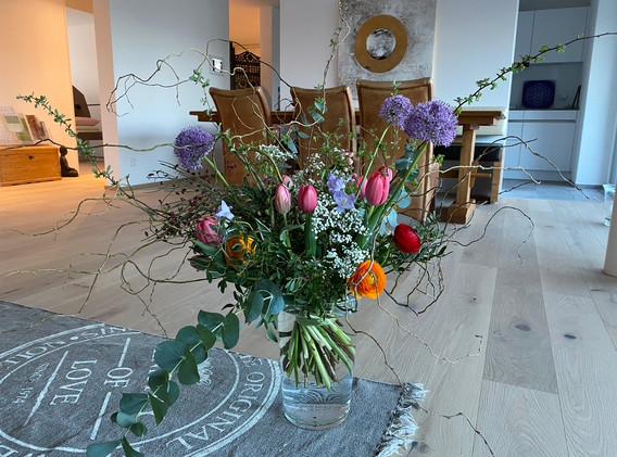Blumen zum Start - danke mein Schatz!