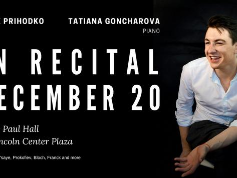Prihodko and Goncharova In Recital