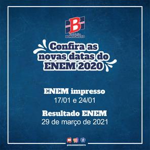 O MEC e o Inep anunciaram as novas datas do ENEM 2020!