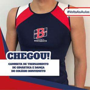 Camiseta de treinamento de Ginástica e Dança do Colégio Bonvenuto.