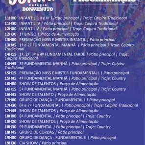 PROGRAMAÇÃO - FESTA JUNINA 2019