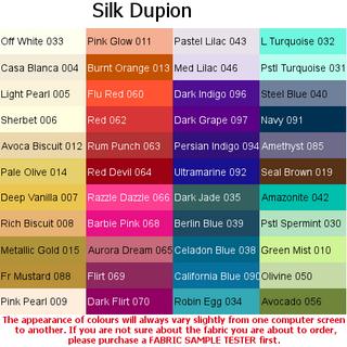 Dupion Silk fabrics available from Eurof