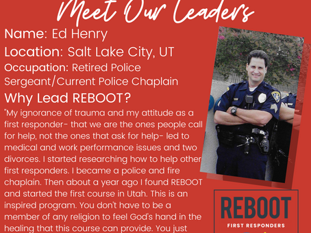 REBOOT First Responders !   Please Sign Up