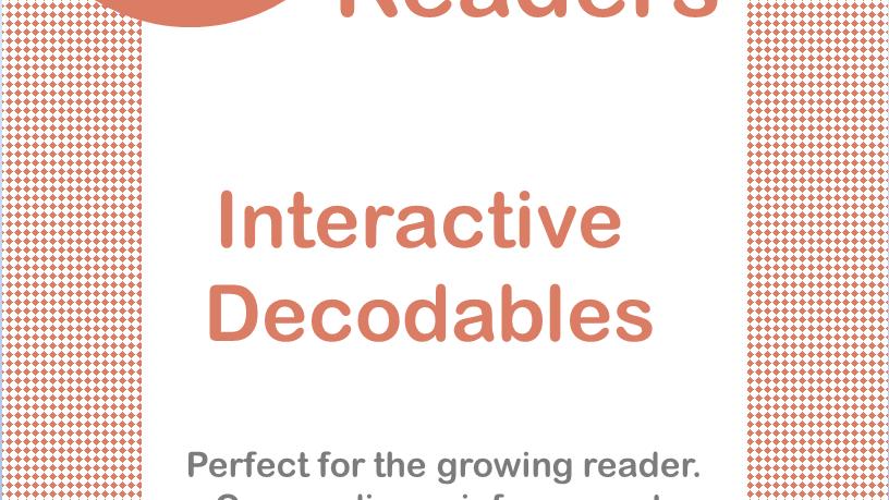 "Short ""e"" Interactive Decodable Readers"