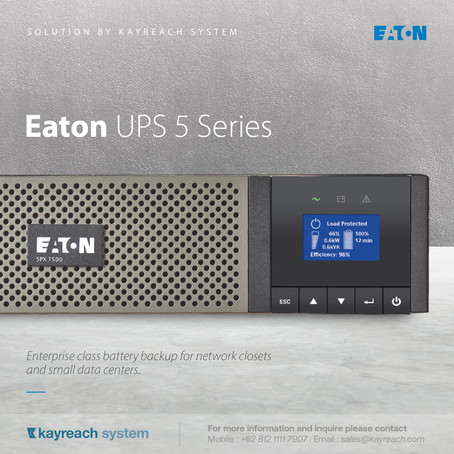 Eaton UPS 5 Series: Enterprise class battery backup for network closets and small data centers