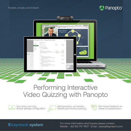 Performing Interactive Video Quizzing with Panopto