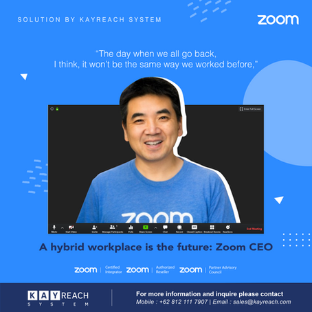 A hybrid workplace is the future: Zoom CEO