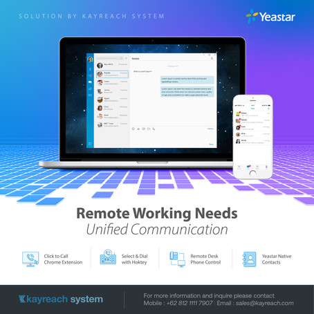 Remote Working Needs Unified Communication