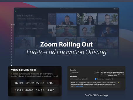 Zoom Rolling Out End-to-End Encryption Offering