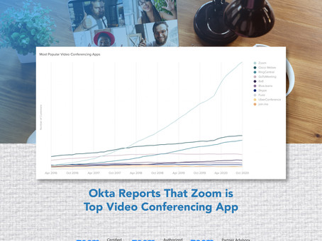Okta Reports That Zoom is Top Video Conferencing App