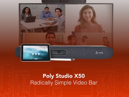 Poly Studio X50 Radically Simple Video Bar