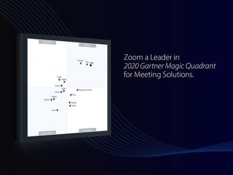 Zoom a Leader in 2020 Gartner Magic Quadrant for Meeting Solutions & UCaaS, Worldwide