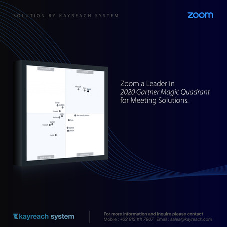Zoom a Leader in 2020 Gartner Magic Quadrant for Meeting Solutions & UCaaS, Worldwide