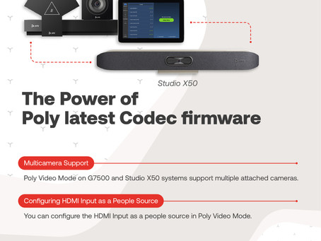 The Power of Poly latest Codec firmware