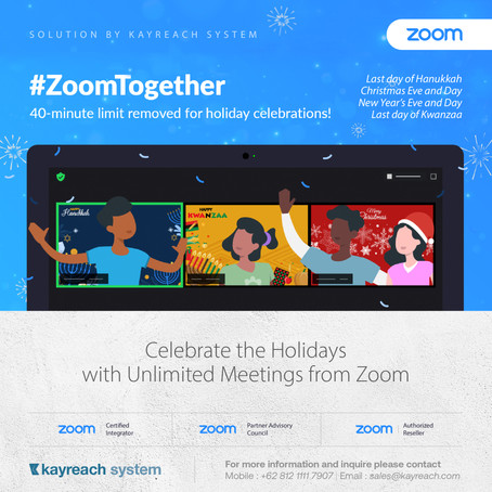 Celebrate the Holidays with Unlimited Meetings from Zoom