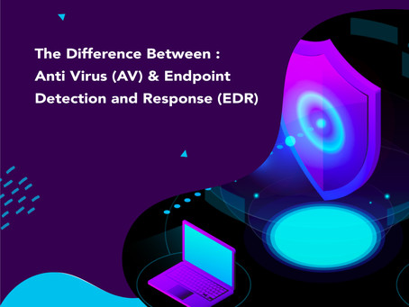 The Difference Between : Anti Virus (AV) & Endpoint Detection and Response (EDR)