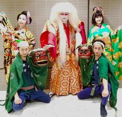 成田国際空港プロモーショナルイベントにて獅子&獅子舞披露