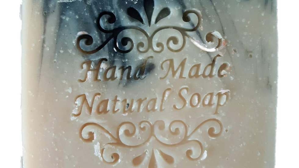 Cold Process Ghee soap with Activated Charcoal - Unscented 90 gg