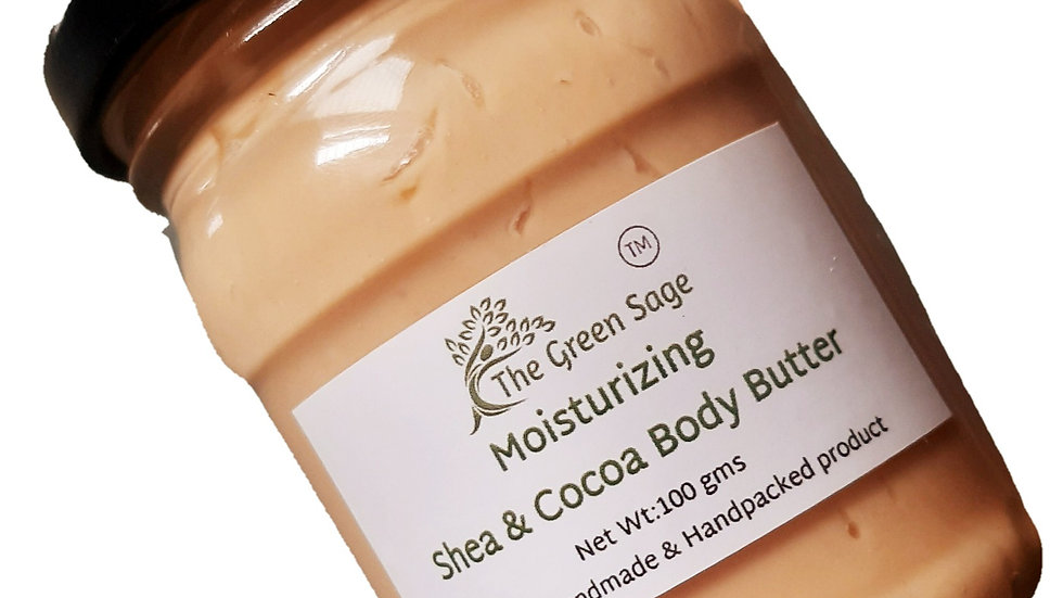 Shea & Cocoa Body Butter,100 gms, for Dry skin| Deep Moisturizing