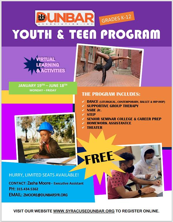 Youth & Teen Program Flyer