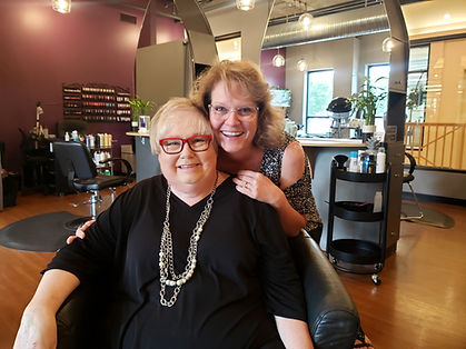 *Photo: Arlene Kelley; Salon Coordinator and Shelly Schaap Salon Owner/Cosmetologist with Intrigue Salon & Day Spa