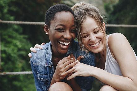 Gelukkige Vrienden Lachen