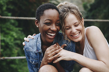 Happy Friends Laughing