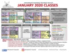 AG Jan. 2020 Schedule