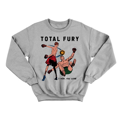 TOTAL FURY crewneck [grey]