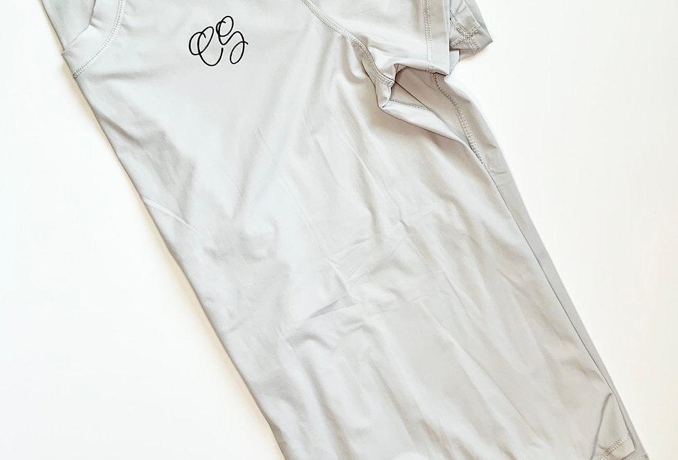 Tie Back Top - Light Grey