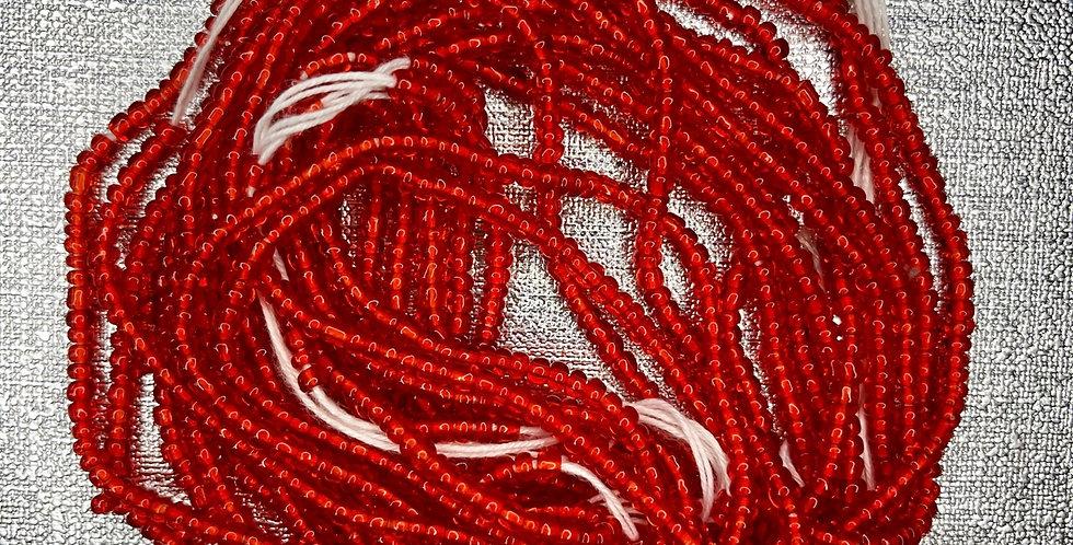waist beads african waist bead body beads red