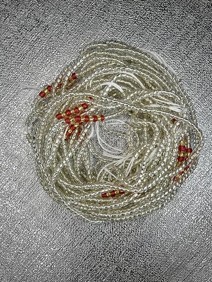 waist beads african waist bead body beads silver red